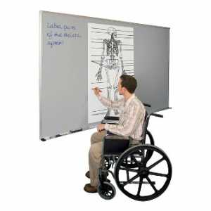 Classroom Technology - Wheelchair-Accessible Projection Markerboard