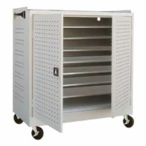 School Technology - Metal Mobile MLS Series Laptop Security Cabinet