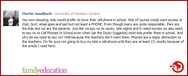 should cellphones be allowed in school argumentative essay