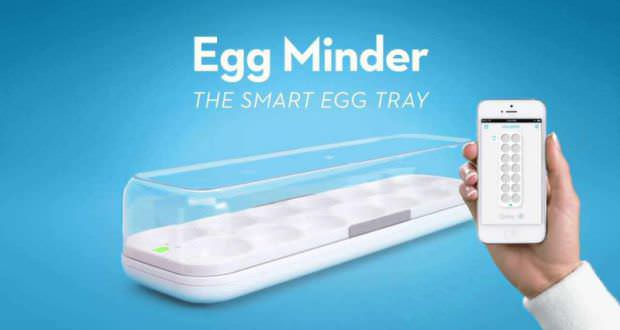 Quirky egg minder smart tray