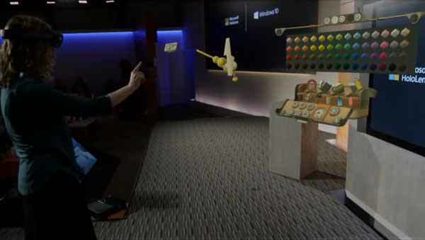 HoloLens performs operations via physical gestures.