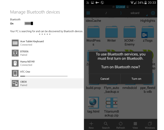 File transfer from Android to PC via Bluetooth