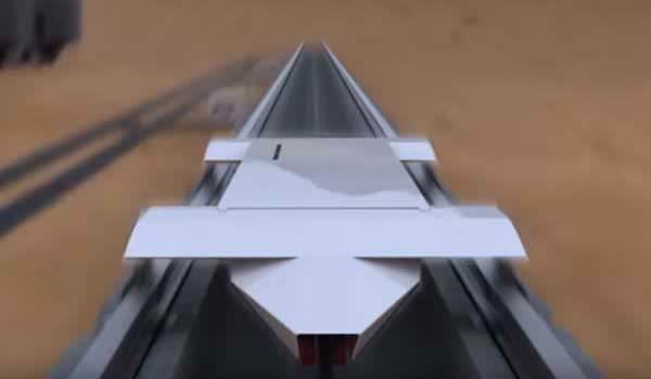 3D visualization of Hyperloop One's open air model