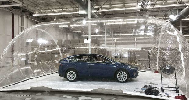Tesla HEPA filters air bubble test