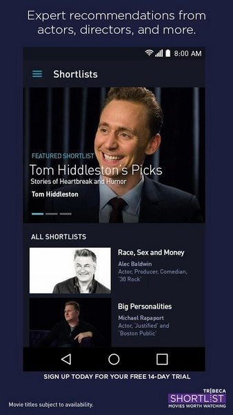 Tribeca-Shortlist-Movies-app