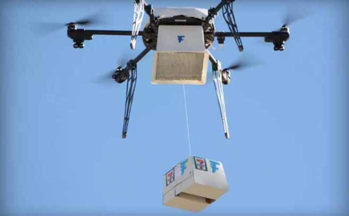 food delivery drone 7 eleven