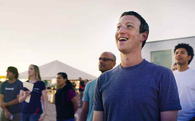 Zuckerberg watching aquila fly