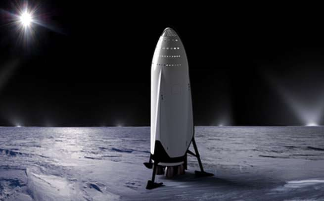SpaceX Heart of Gold on Mars concept