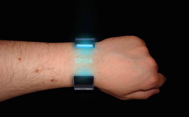 Wristband phone hologram