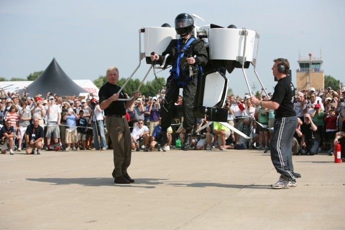 A Civilian Pilot Flies A Jetpack